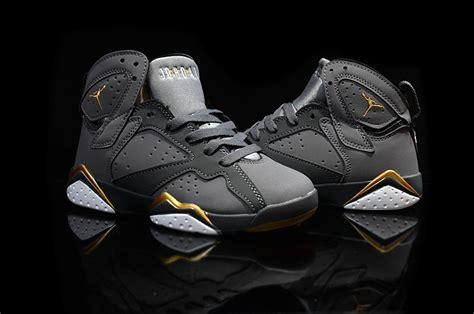 2016 Air Jordan 7 Vii Retro Gold Medal Kids Shoes Black Metallic Gold Moments 442960-407