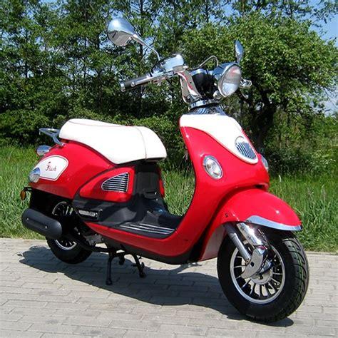 50ccm roller kaufen motorroller 50ccm retro roller mit 45 km h flash rot motorroller mofa