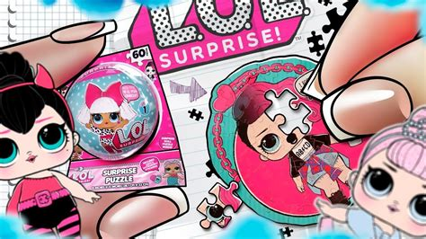 diy miniature toy lol surprise doll puzzle  stickers