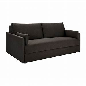 carl canape lit 3 places en tissu marron habitat With canapé 3 places tissu marron
