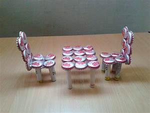 Make Miniature Table & Chairs from Waste Bottle Caps