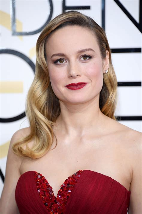 Golden Globes  Brie Larsons Radiant Red Lips Pret A Reporter