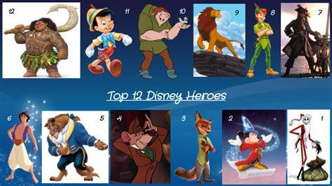 Top 12 Disney Heroes By Jjhatter On Deviantart