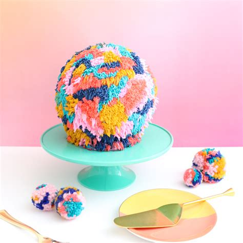 bake   giant pom pom cake  kailo chic life