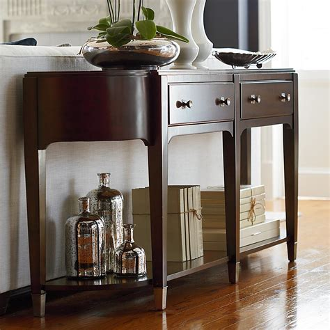 Brown Console Table Modern Clean Lines