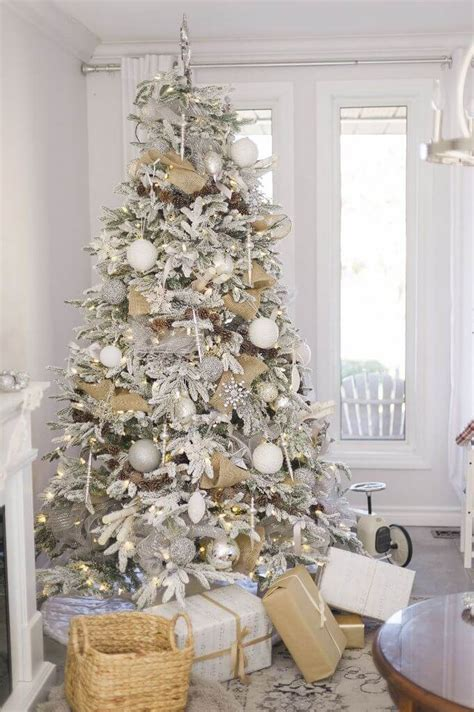 stunning silver white christmas tree decorations