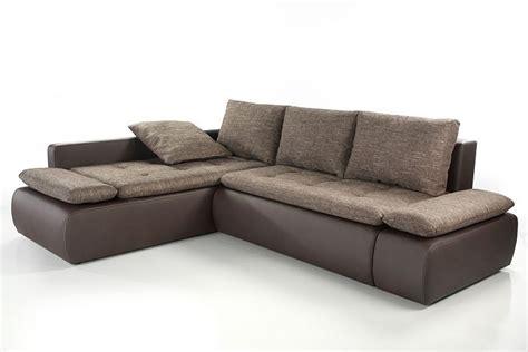 sofa kunstleder braun 259x201cm webstoff braun kunstleder braun schlafsofa kaufen bei vbbv gmbh