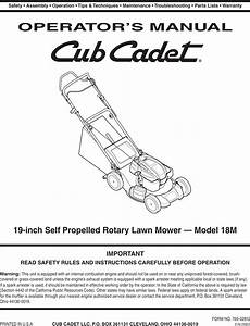 Cub Cadet 18m Users Manual