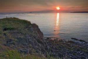 Coastal Sunset Scenery Cape DOr Bay Of Fundy Nova Scotia | Photo, Information