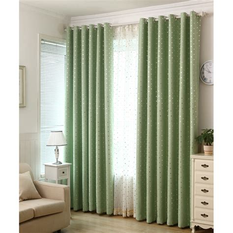 Discount Blackout Drapes - discount green poly cotton blackout polka dot curtains