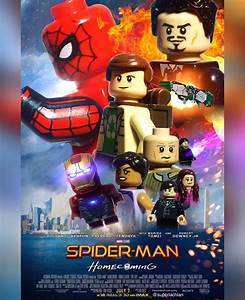 Spider-man, Homecoming, Official, Poster, In, Lego, Superlachlanmovieposters