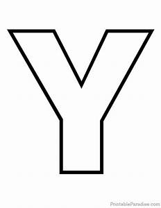 27 best printable outline letters images on pinterest With big letter y