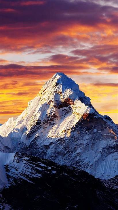 Mountain Iphone Snow Sunset Clouds Alps Wallpapers