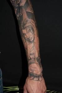 Horror chicks / clowns gangster sleeve : Tattoos
