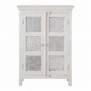 Maison Du Monde Armoire : armoire en manguier massif blanche et argent e l 84 cm ~ Melissatoandfro.com Idées de Décoration
