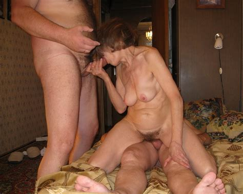 Mature Wife Doing Two Cocks During Threesome Amateur Cool