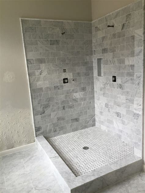 Carrara Marble Tile Bathroom by Carrara Marble Bathroom Remodel In West Lake
