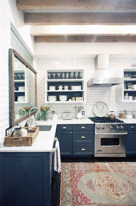 backsplash subway tile for kitchen best 25 navy kitchen ideas on navy kitchen