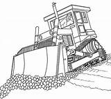 Pages Bulldozer Coloring Crane sketch template