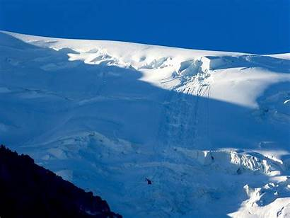 Avalanche Blanc Mont Yesterday France Tacul Critically