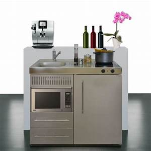 Miniküche Mit Kühlschrank Und Herd : minik che 100 cm breit mit mikrowelle und k hlschrank ~ Indierocktalk.com Haus und Dekorationen