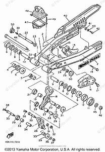 Yamaha Motorcycle 1989 Oem Parts Diagram For Swing Arm