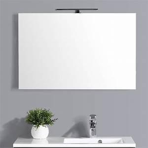 Applique Salle De Bain Led : miroir lumineux salle de bain 90 cm avec applique led ~ Edinachiropracticcenter.com Idées de Décoration