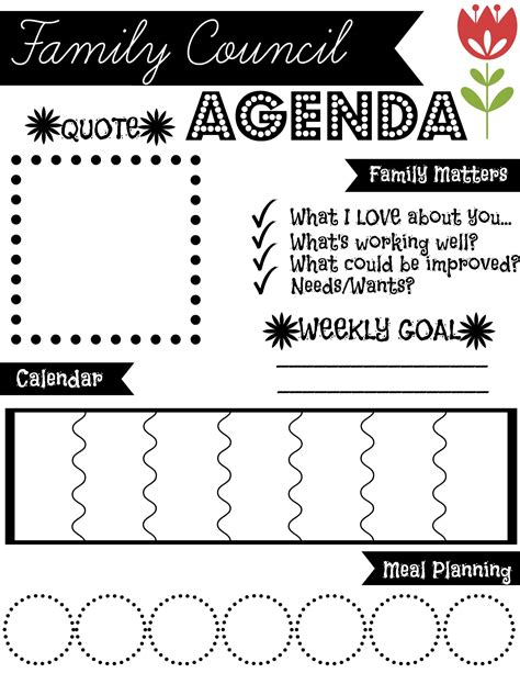 Family meeting agenda template is often used in meeting agenda template, business operations, general business forms, business and legal. Family Council Agenda- Find more free Printables at ...
