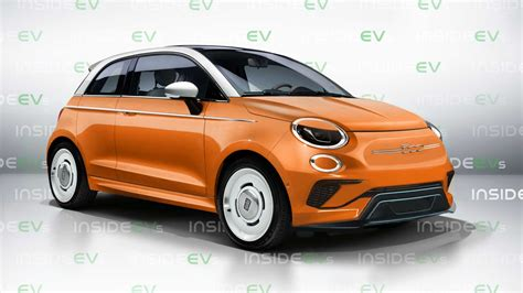 next gen fiat 500 electric car rendered to life