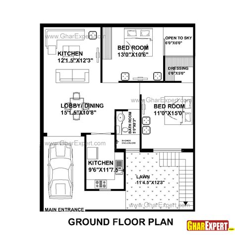 home plan com house plan for 33 by 40 plot everyone will like