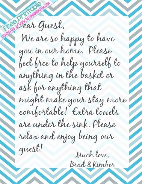 leave  handwritten note   guests