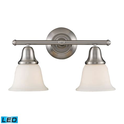Bathroom Lights Brushed Nickel by Elk Lighting Berwick Brushed Nickel Led Bathroom Light