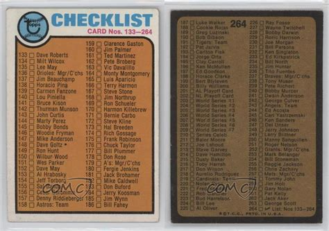 Delivering an exceptional collecting experience. 1973 Topps #264 Checklist Baseball Card | eBay