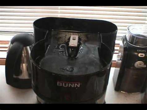 Bunn coffee maker problem followup   YouTube