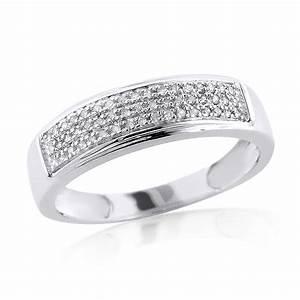 Sterling Silver Diamond Wedding Bands Wedding And Bridal