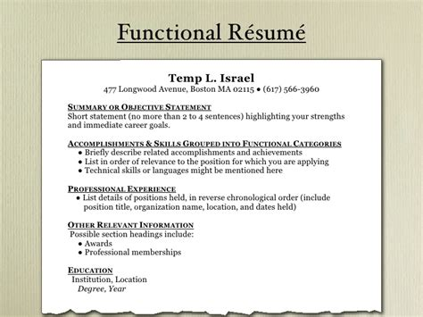 Resume Chronological Or Relevance by R 233 Sum 233 101 Preparing An Effective R 233 Sum 233