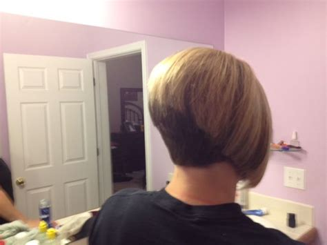 Two Tone Shaved Nape Stacked Bob