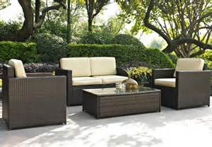crosley furniture palm harbor 5 pc brown outdoor wicker