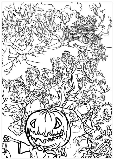 Halloween monstres - Halloween - Coloriages difficiles