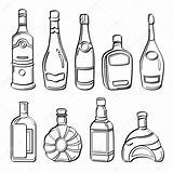 Alcohol Bottles Illustration Drawing Liquor Collection Sketch Different Drawings Wine Coloring Contains Pdf Pages Depositphotos Getdrawings sketch template