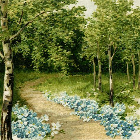 vintage clip art flower lined path  design shop blog