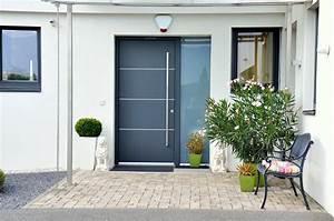 Haustren Modern Grau Mit Seitenteil Haus Deko Ideen