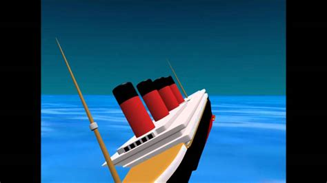 rms lusitania 3d sinking animation youtube