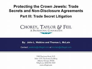 Protecting The Crown Jewels: Trade Secrets And Non ...