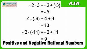 1027. Positive and Negative Rational Numbers - YouTube