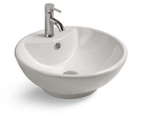 rubinetto per lavabo da appoggio lavabo d appoggio circe tondo in ceramica bianco 46 5x18