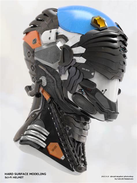 cool motocross gear sci fi helmet by satoshi nakamura sci fi 3dtotal com