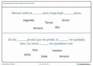 Ficha de gramática de completar las frases con determinantes para 4º