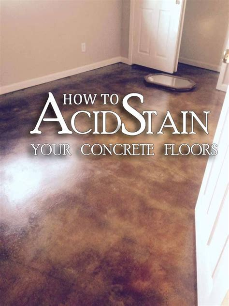 25  best ideas about Stained concrete on Pinterest   Acid