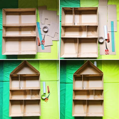 Come Costruire Una come costruire una casa delle bambole fai da te in cartone
